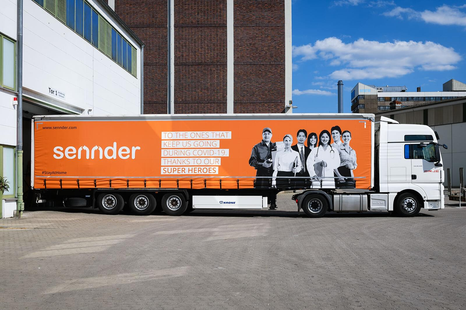 sennder launches branded fleet to thank superheroes of COVID-19